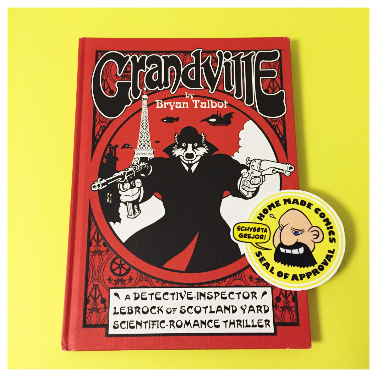 Home Made Comics Seal of Approval #171. Grandville av Bryan Talbot utgiven av Dark Horse Comics 2009.