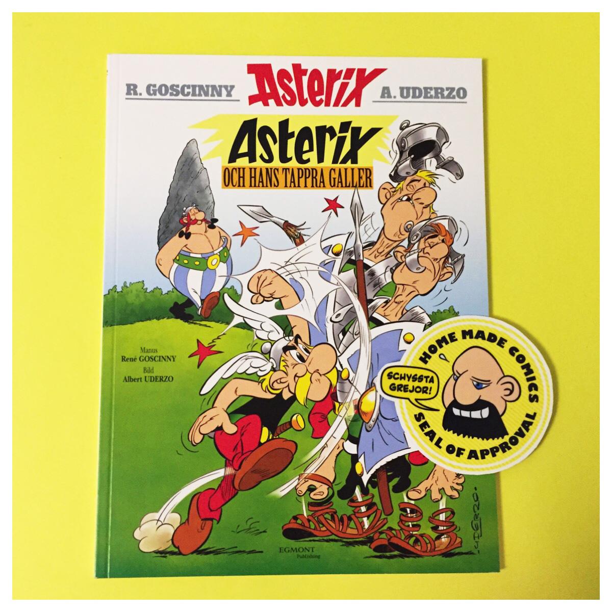 Home Made Comics Seal of Approval #172. Asterix och hans tappra galler av René Goscinny och Albert Uderzo från 1961 utgiven av Egmont 2015.