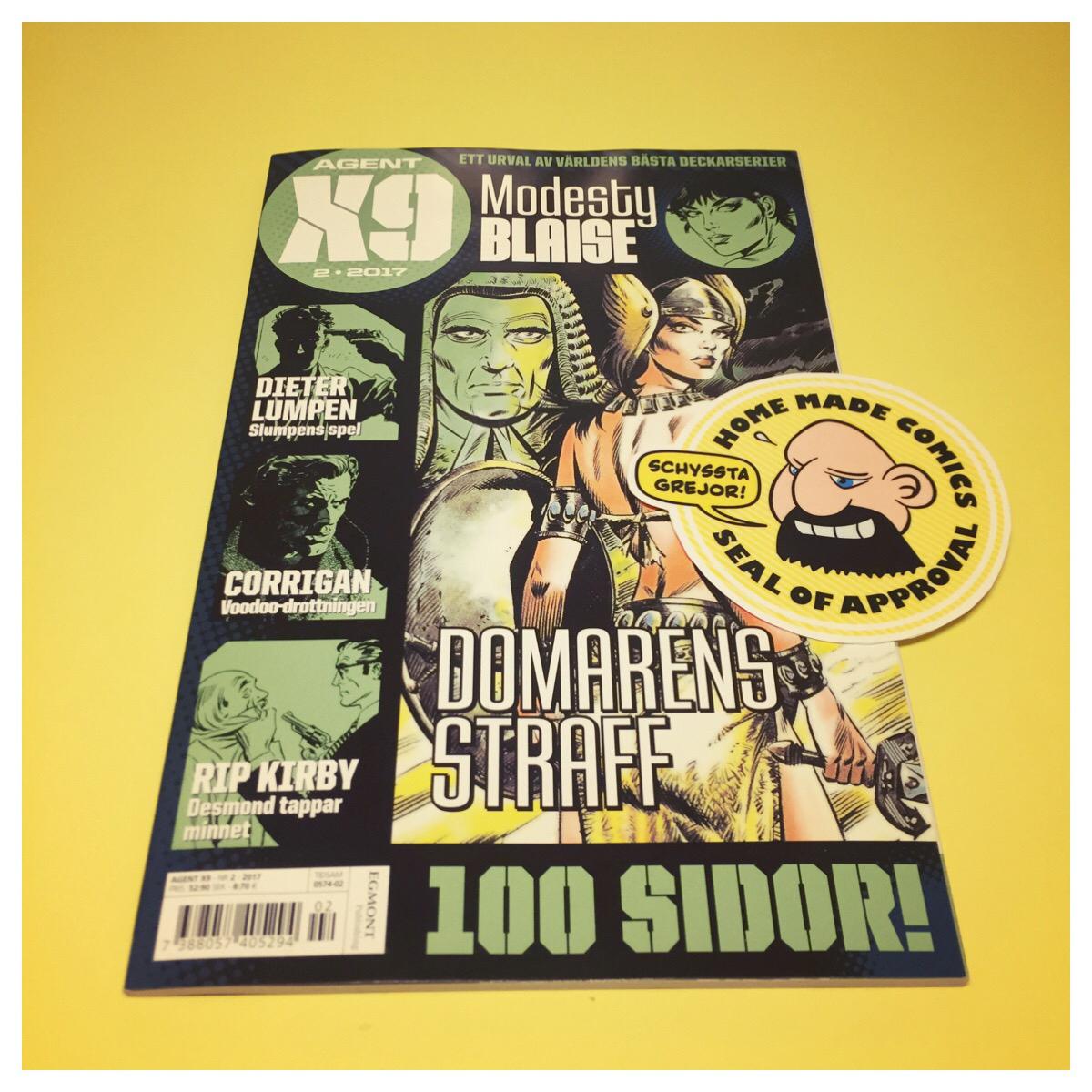 Home Made Comics Seal of Approval #187. Agent X9 2017-2 utgiven av Egmont.