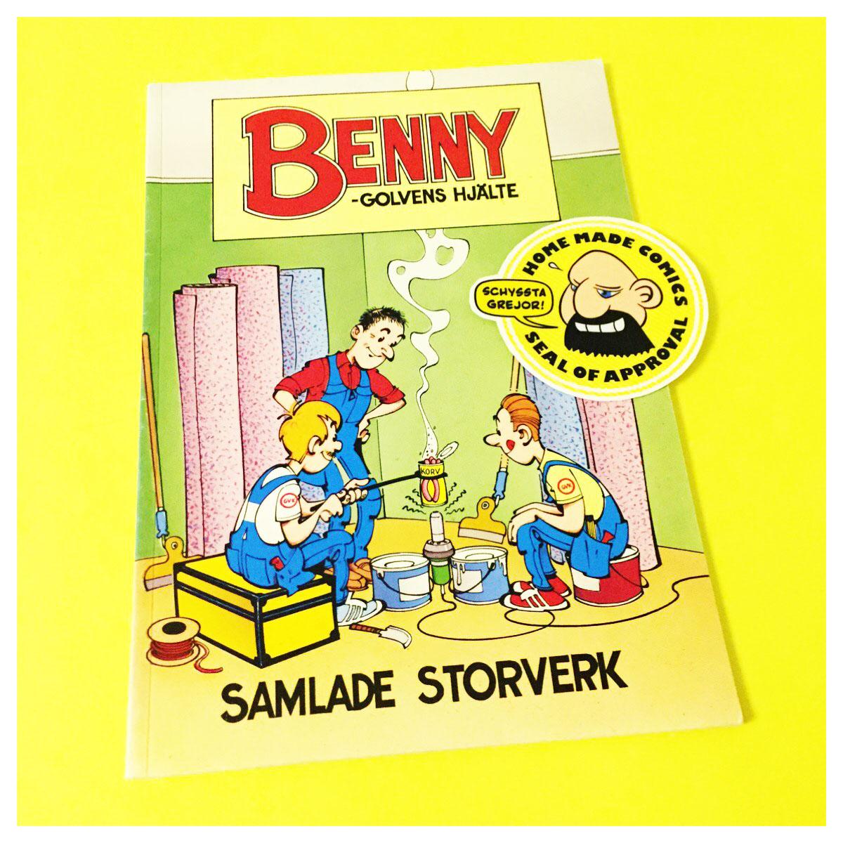Home Made Comics Seal of Approval #191. Benny – Golvens hjälte Samlade storverk av Ulf Jansson utgiven av Golvbranschens Förlags AB 1994.