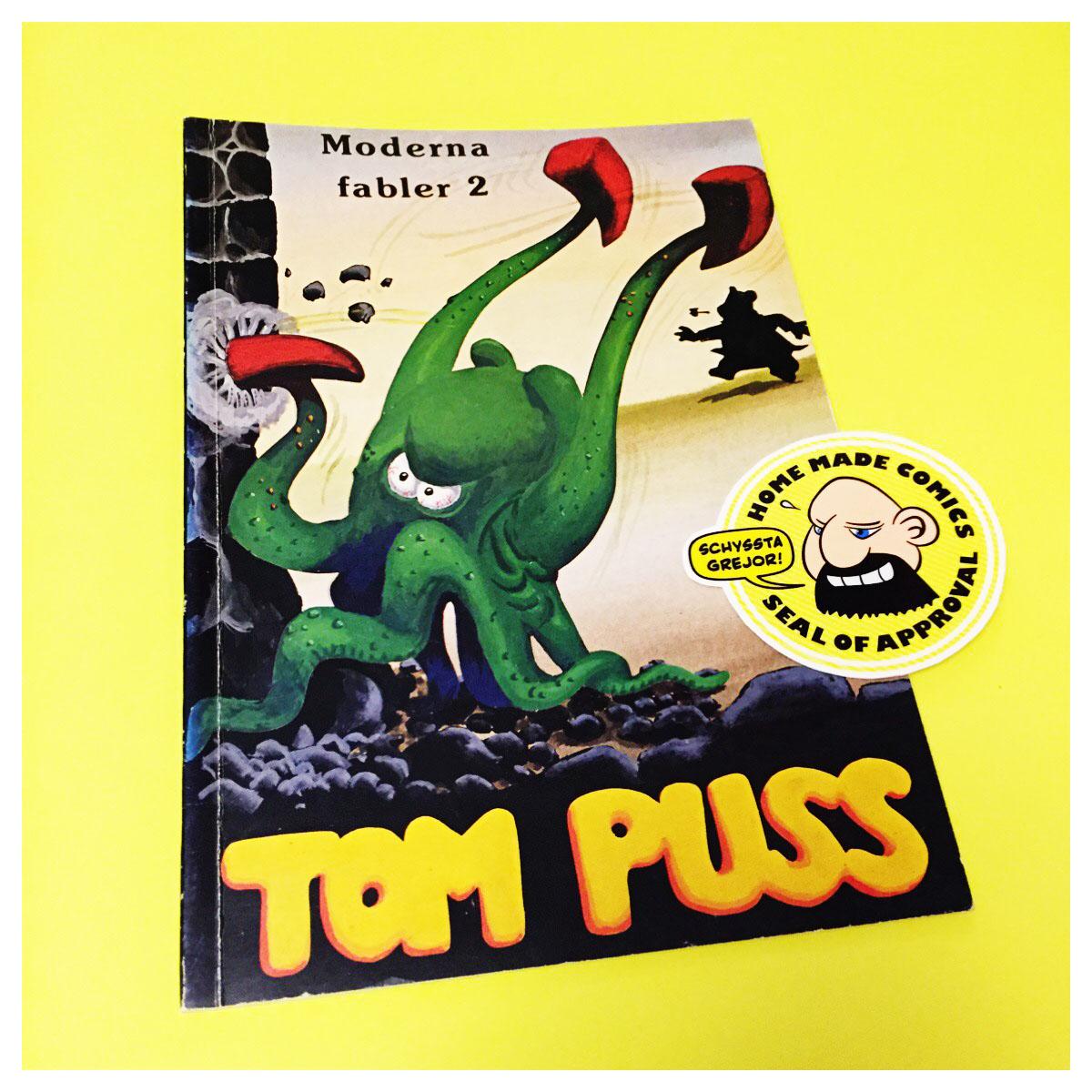Home Made Comics Seal of Approval #194. Tom Puss Moderna Fabler 2 av Marten Toonder utgiven av Alvglans 1980.