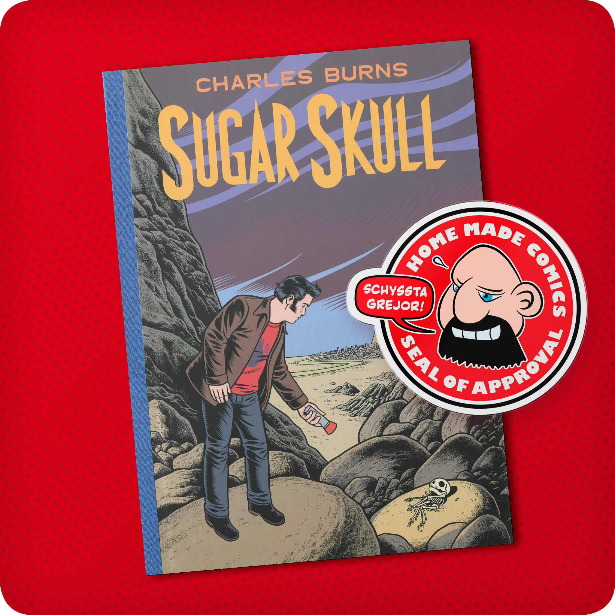 242-Home-Made-Comics-Seal-of-Approval-242-Sugar-Skull-av-Charles-Burns-utgiven-av-Pantheon-2014.png