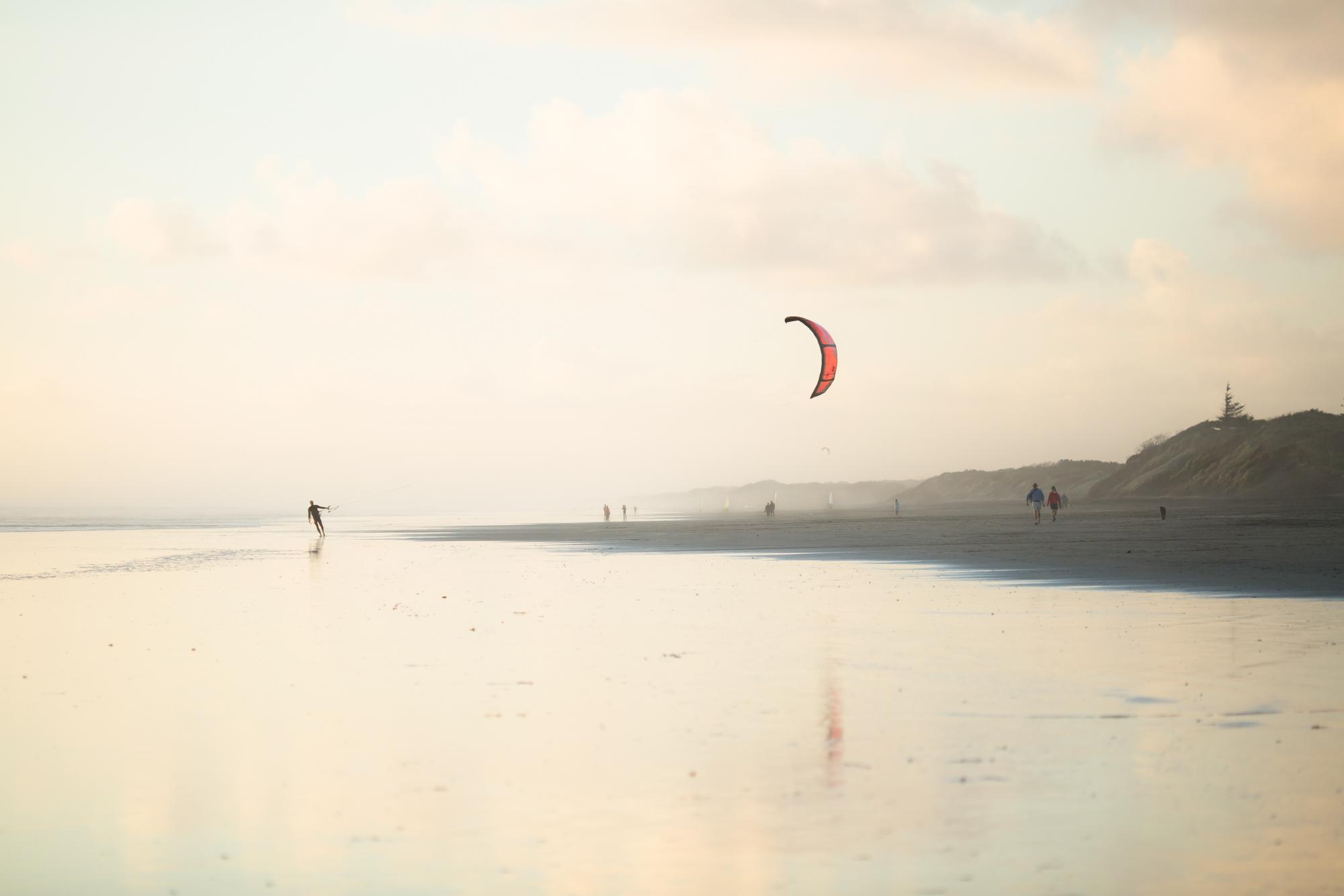 Red Runner, Muriwai Beach.JPG