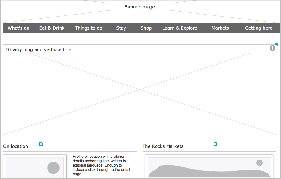 Wireframe for the Rocks home page (Cognitive Ink)