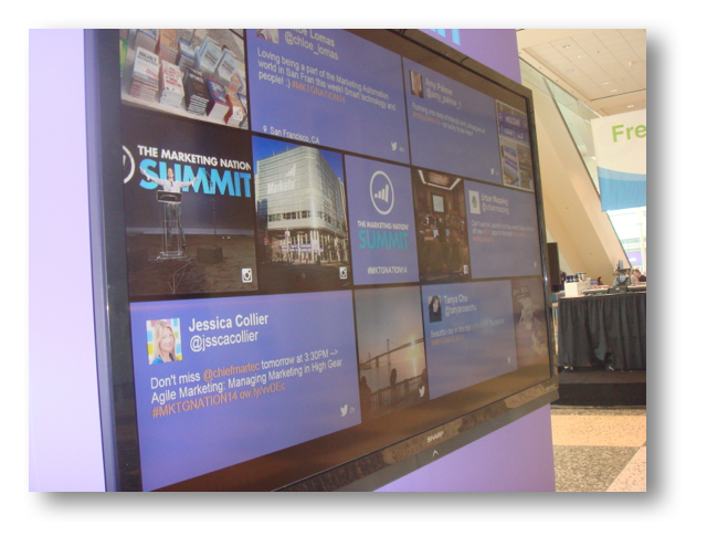Live Twitter feed for all that's going on with #MKTGNATION14 and #MarketingApps