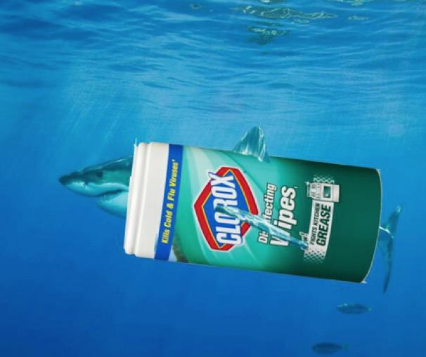 "Clorox's Great ""Wipe"" Shark"