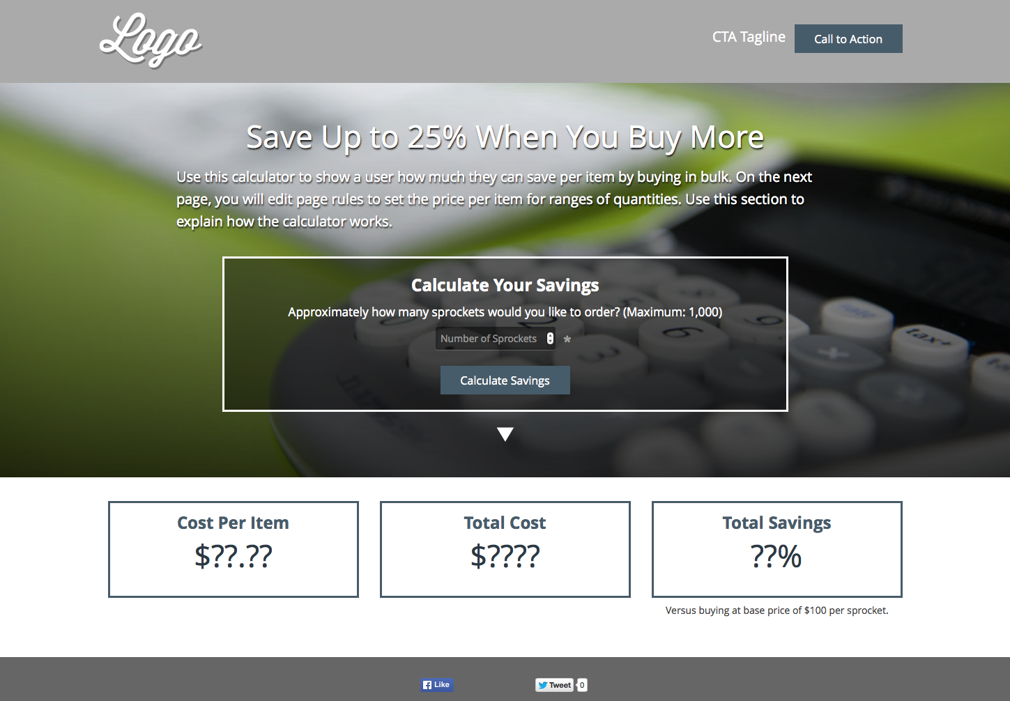 The Savings Calculator delivers complete pricing transparency for your brand, with no tricks or gimmicks.
