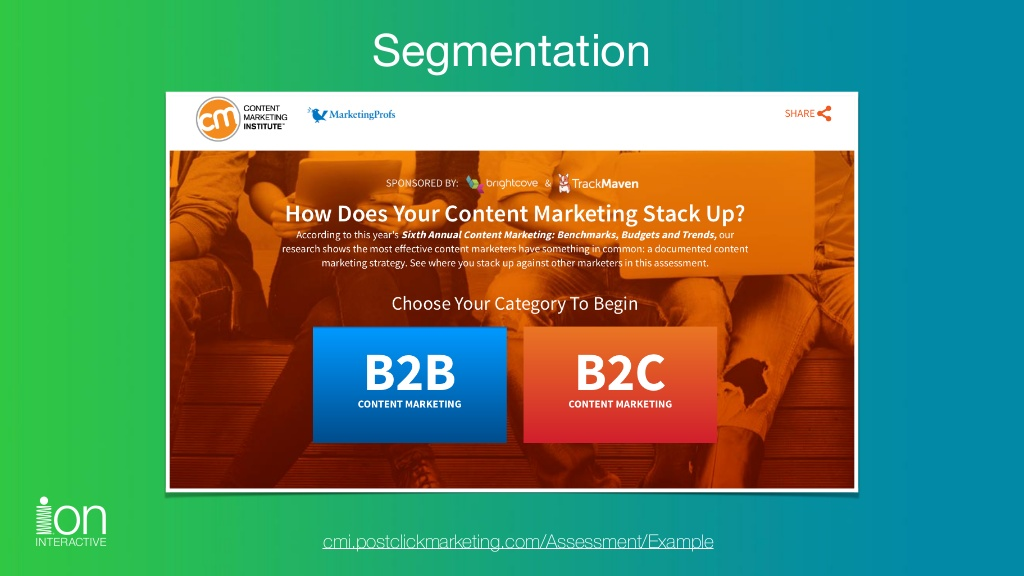 Click the image to explore the Segmentation experience.