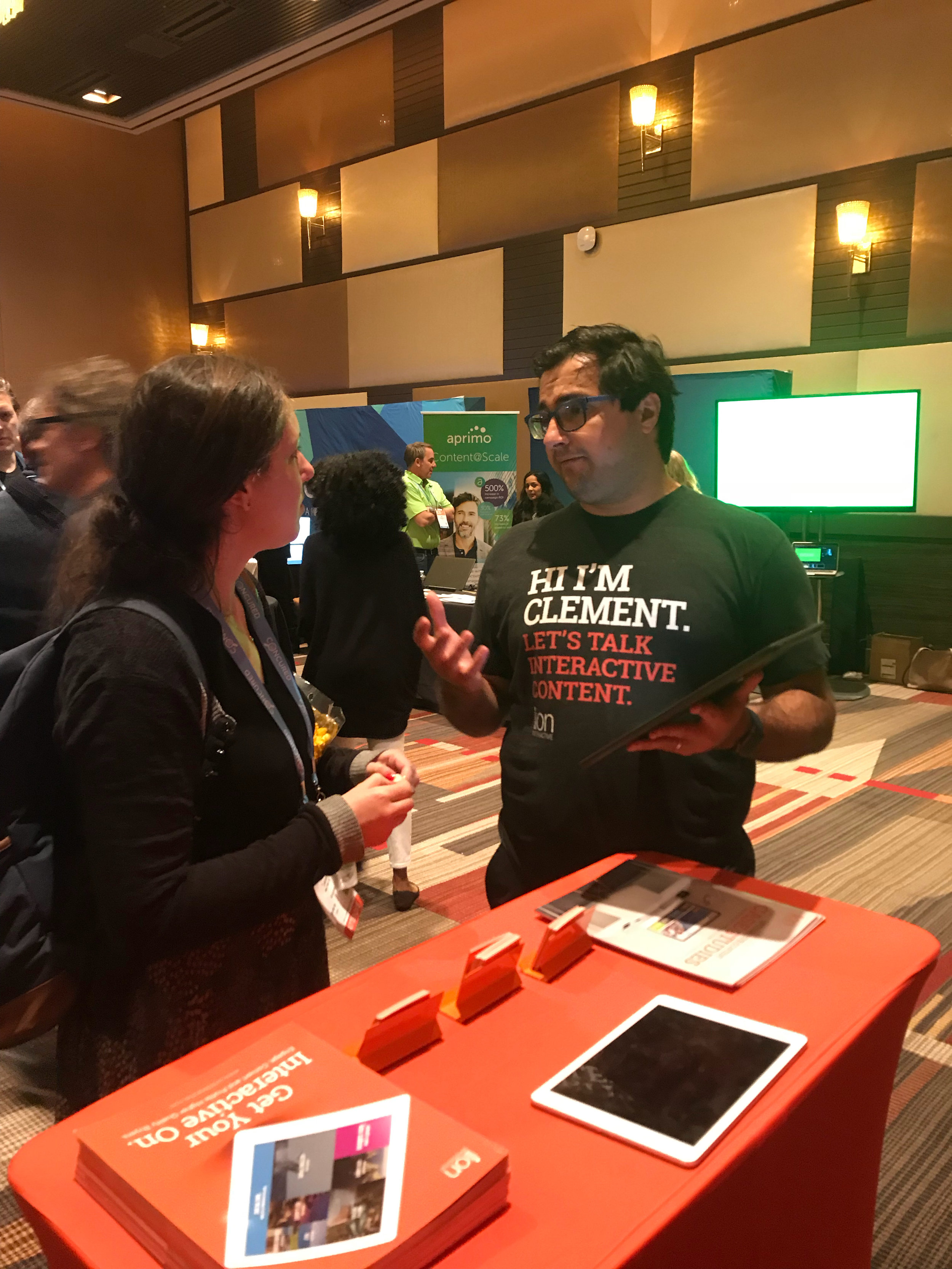 Clément talking interactive content.