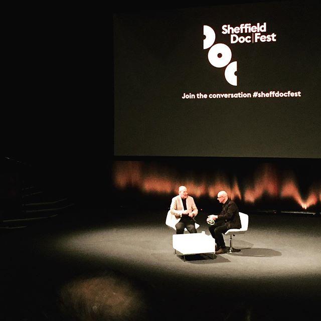 Bit of Werner tonight. #sheffdocfest #wernerherzog #brucechatwin #documentary