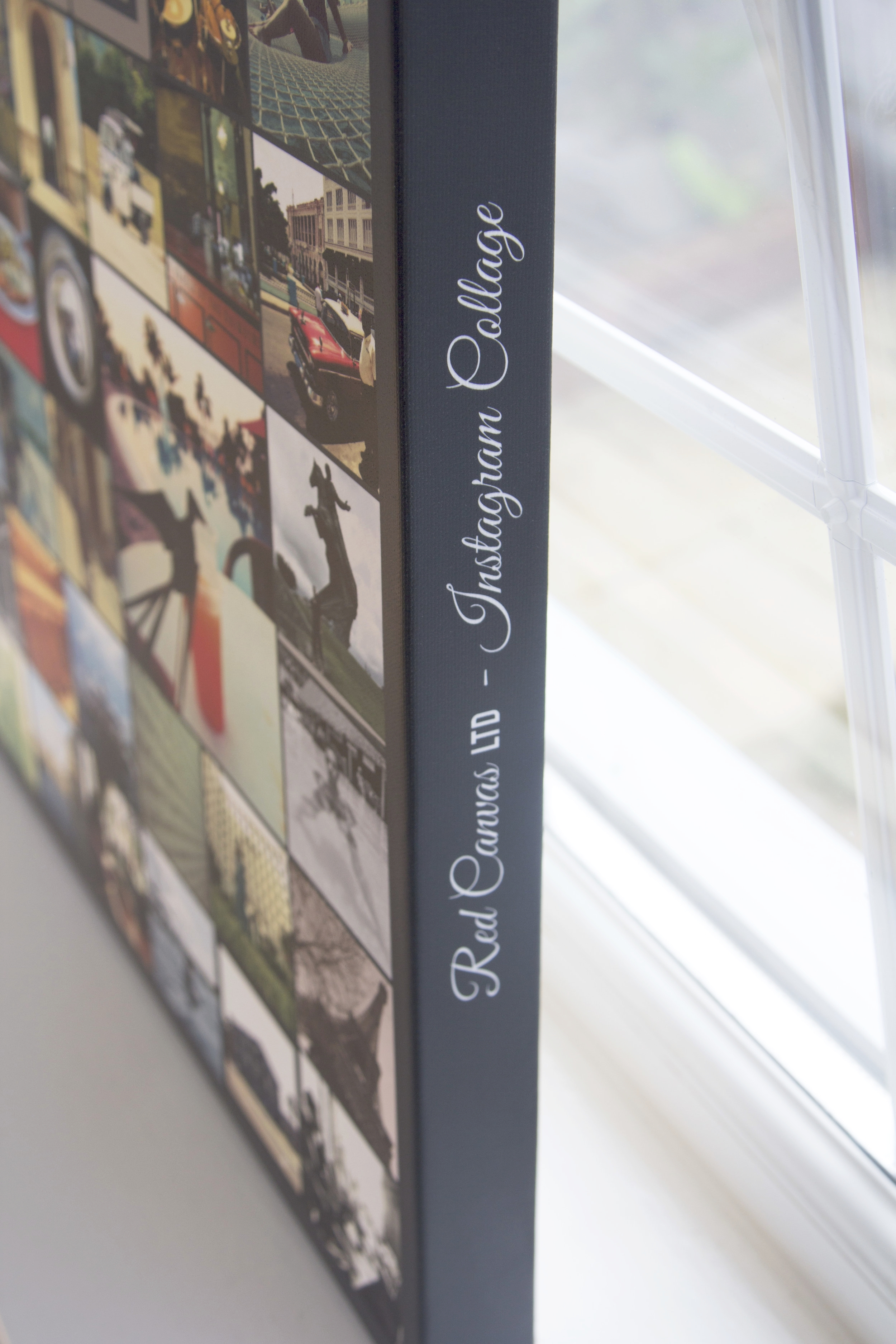 My thing: Side Text was my first innovation for the Photo Collage Canvas Print
