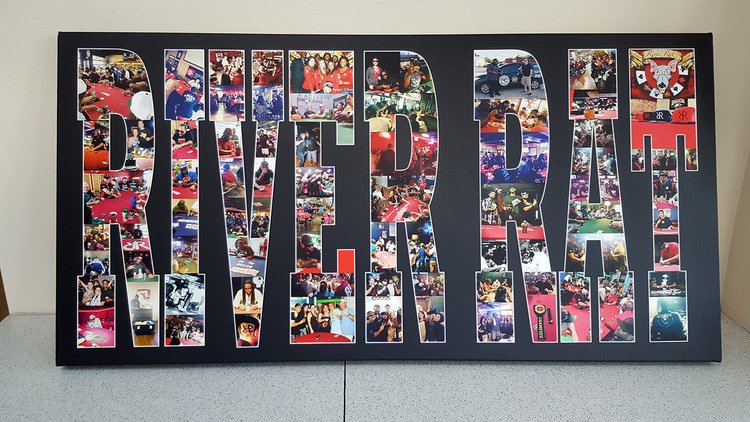20x40 Inch Text Collage Canvas