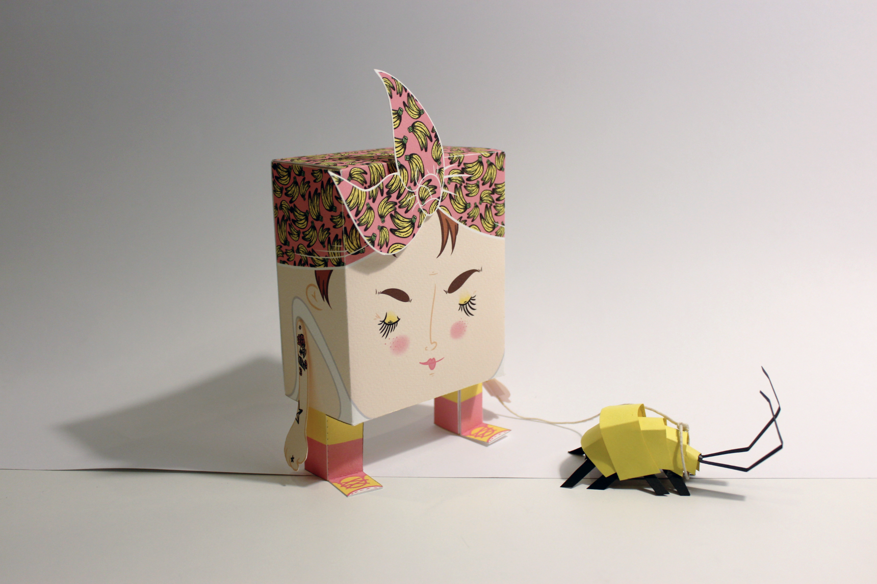 This is my finished little Dude-tte 'Marija' and her pet 'Cuddles'