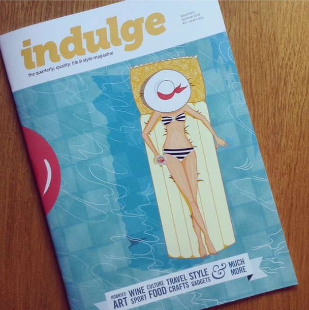 "My second illustration for 'Indulge Magazine' A supplement with ""MaltaToday"" Newspaper has been printed! Bit of a change of style from my Spring one, but I'm glad I captured the essence of summer :)"