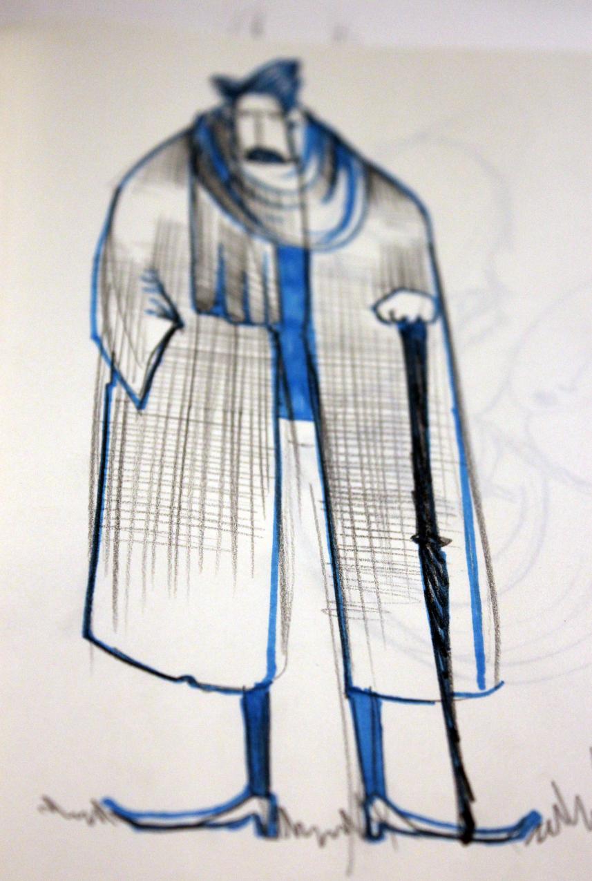 Man in Coat blue