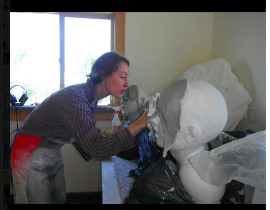 Working during my residency at The LH Project in Oregon.