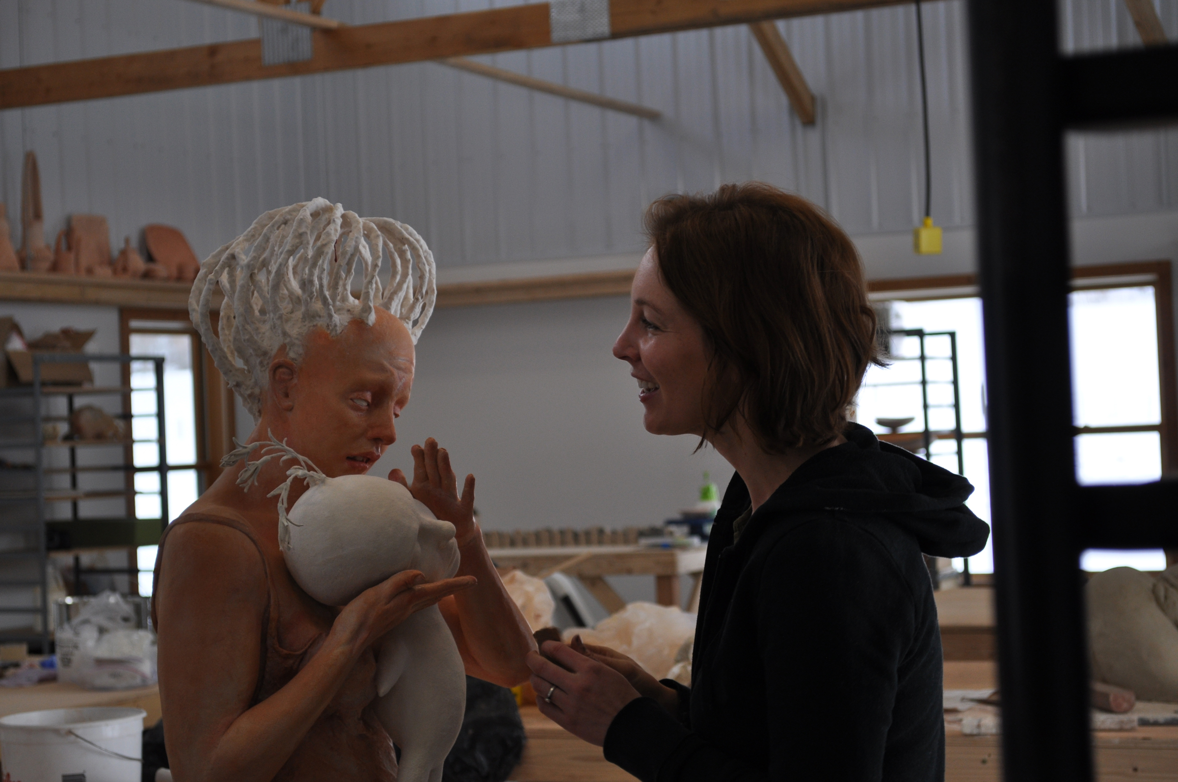 Working in my studio at Red lodge