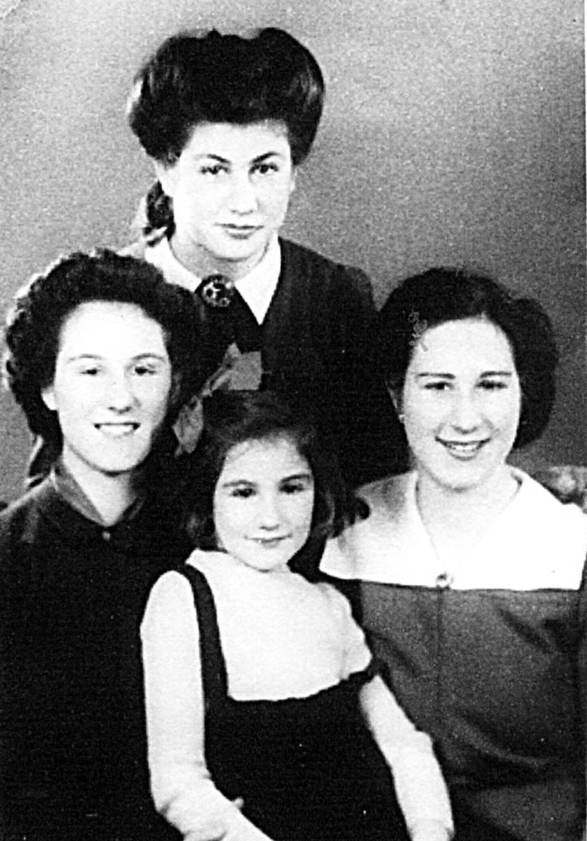 After the war, Susi (centre) with her older sisters, in London