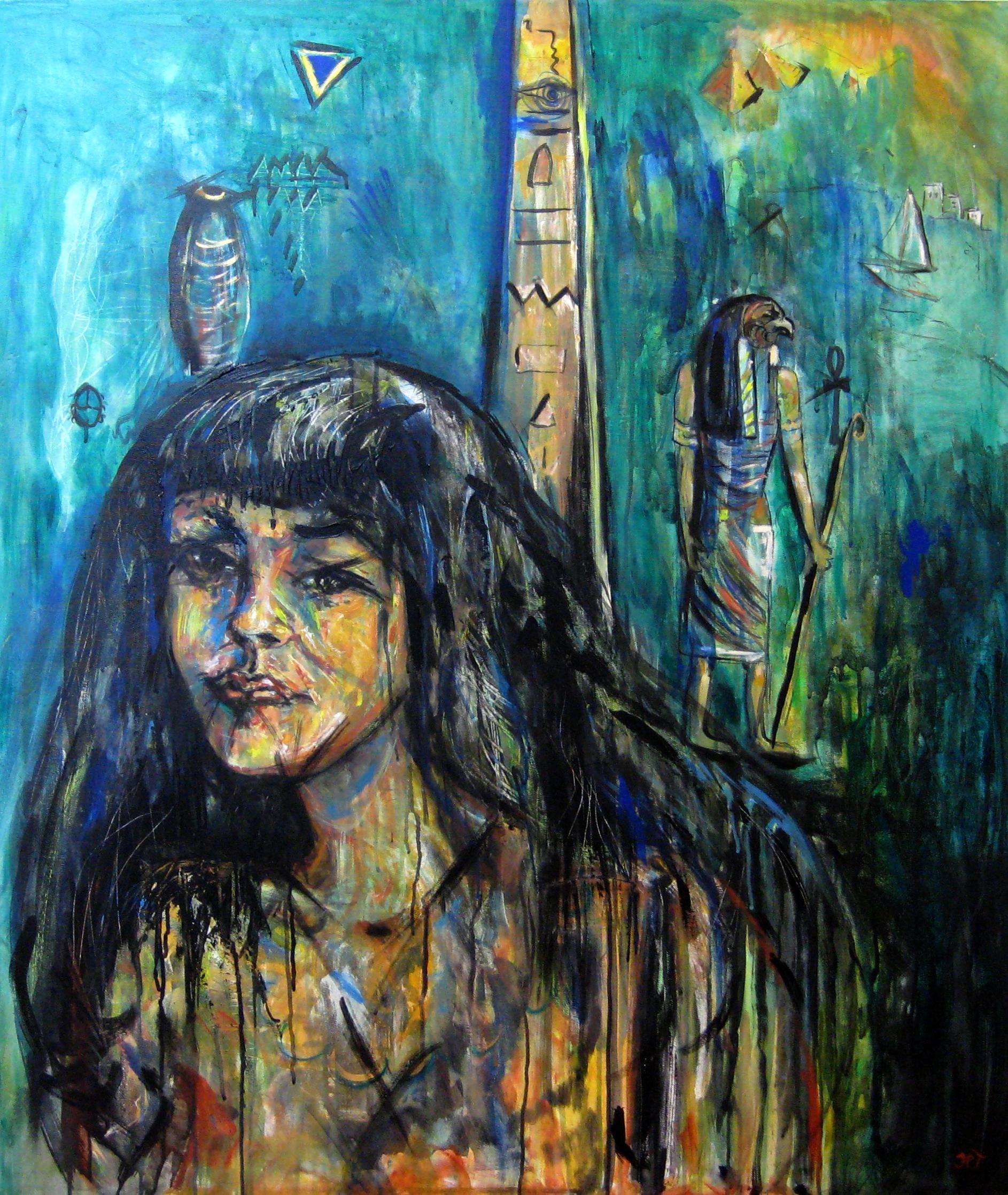 ÆGYPTISK TEENAGER Akryl på lærred
