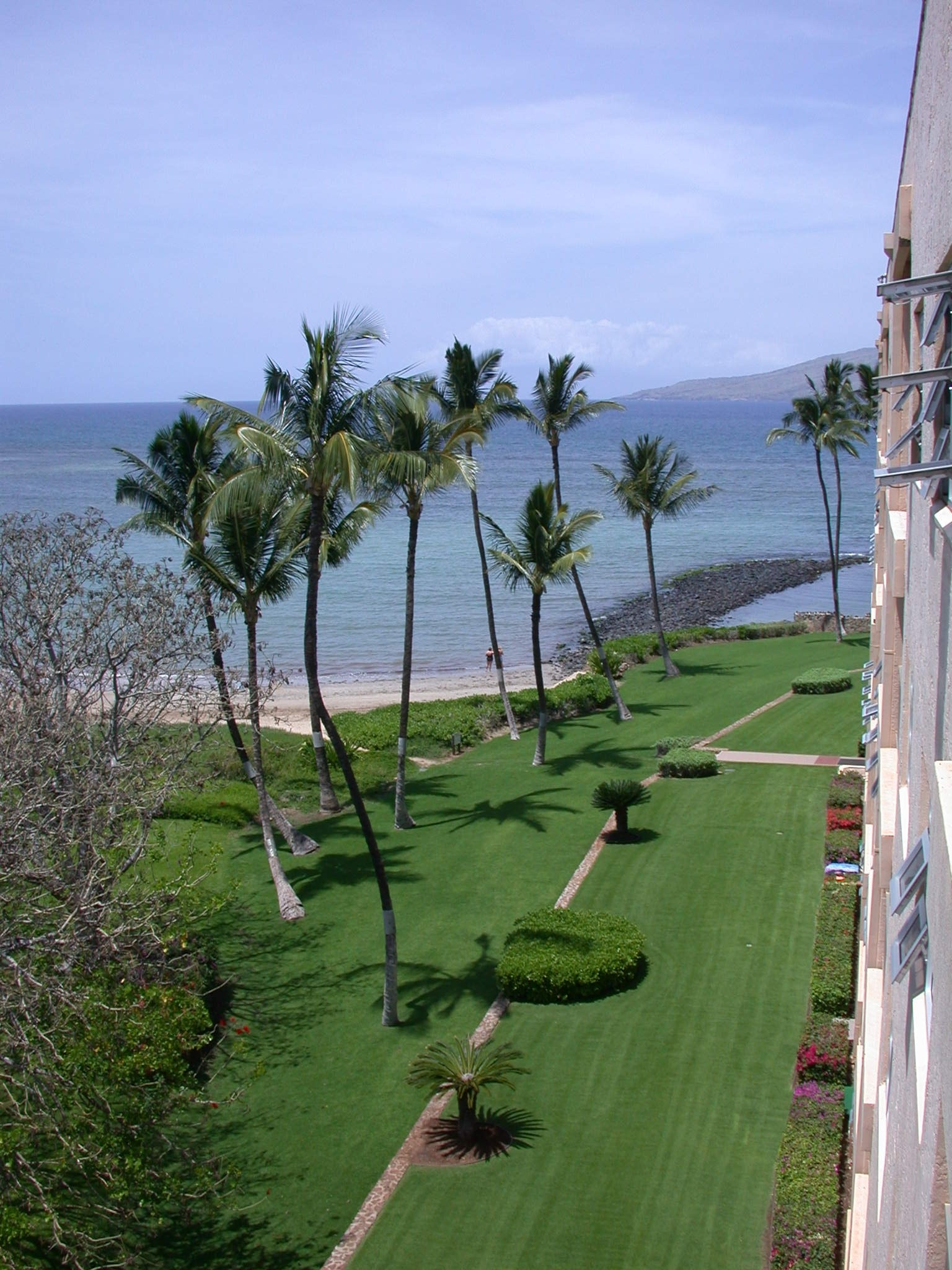 Lanai view looking down onto grounds