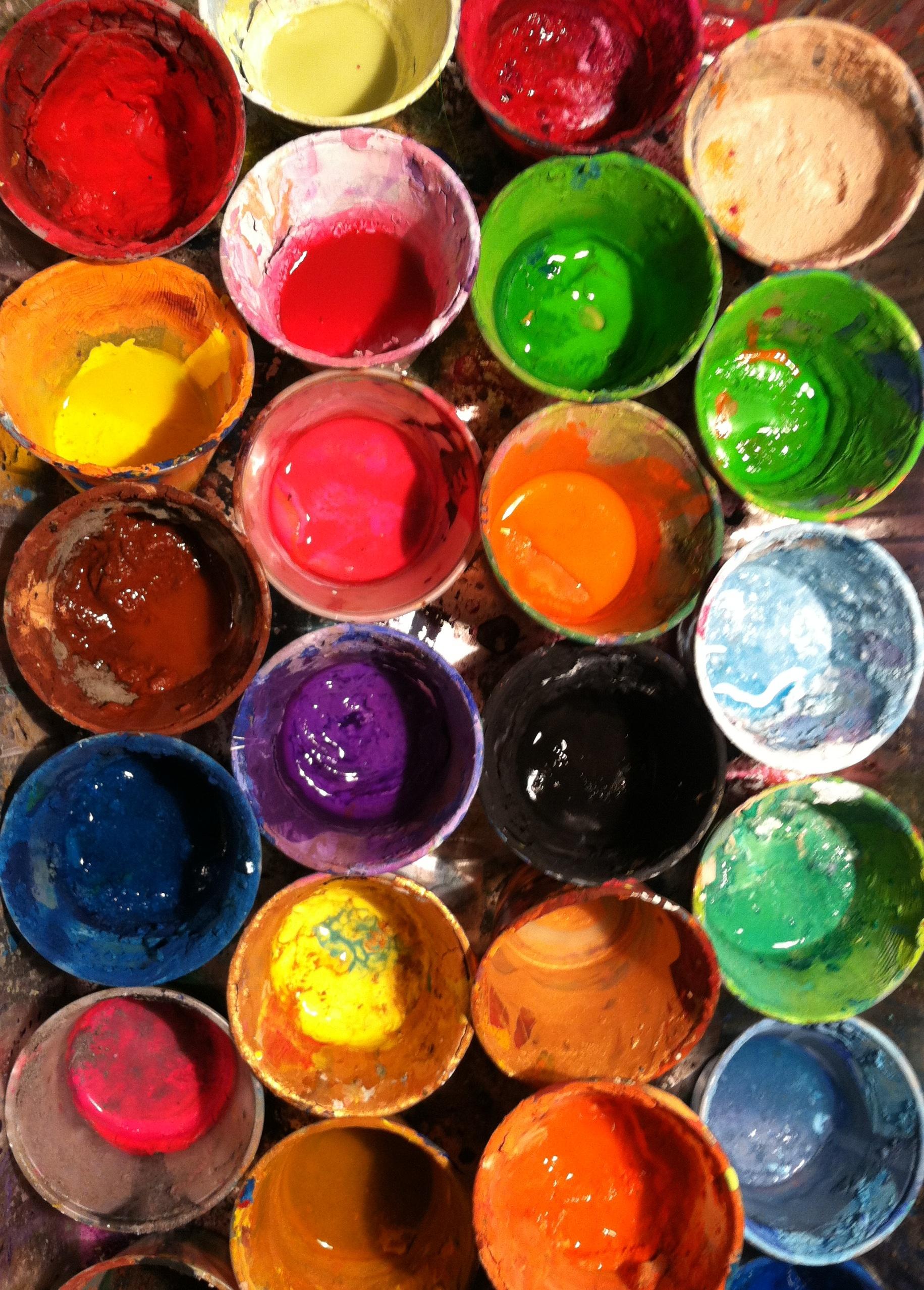 My paint pots