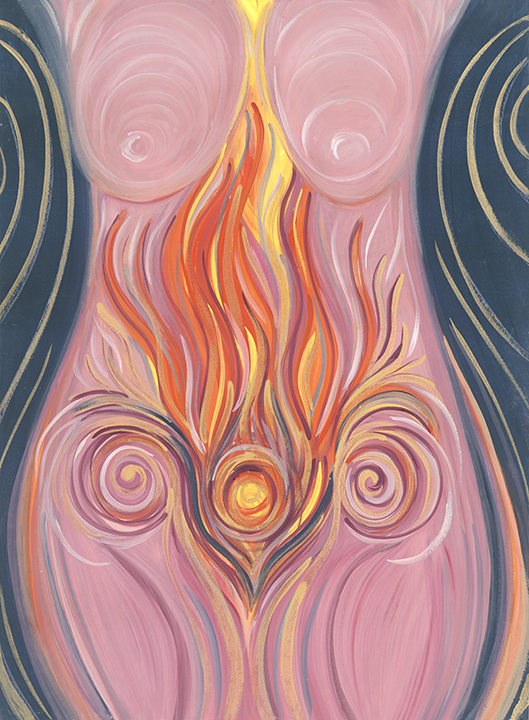 Vesta, Goddess of hearth and womb