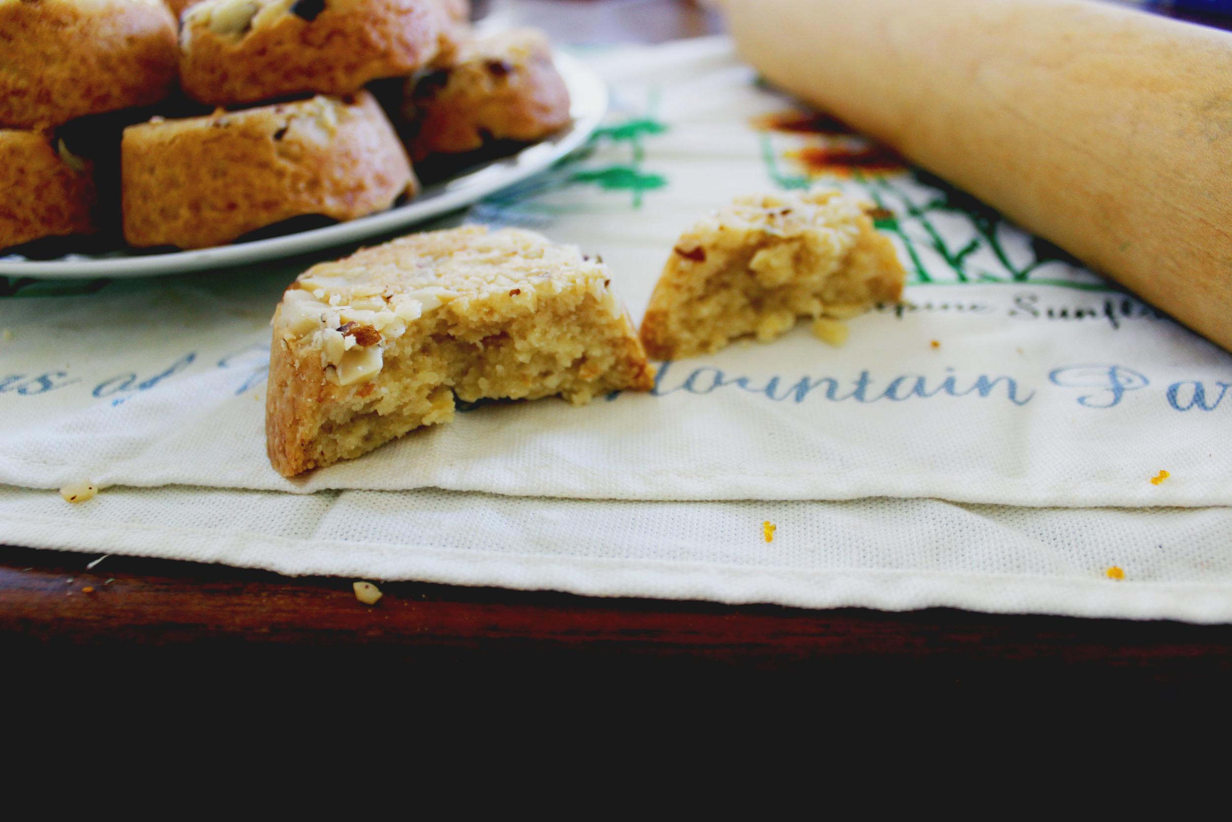 Orange and Brazil Nut Scotch (Scottish) Shortbread Cookies