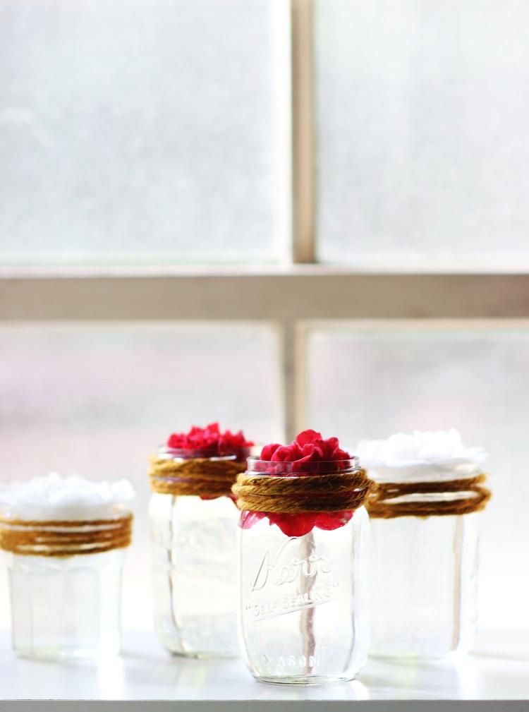 DIY Floating Flower Mason Jar \ Most Popular In January