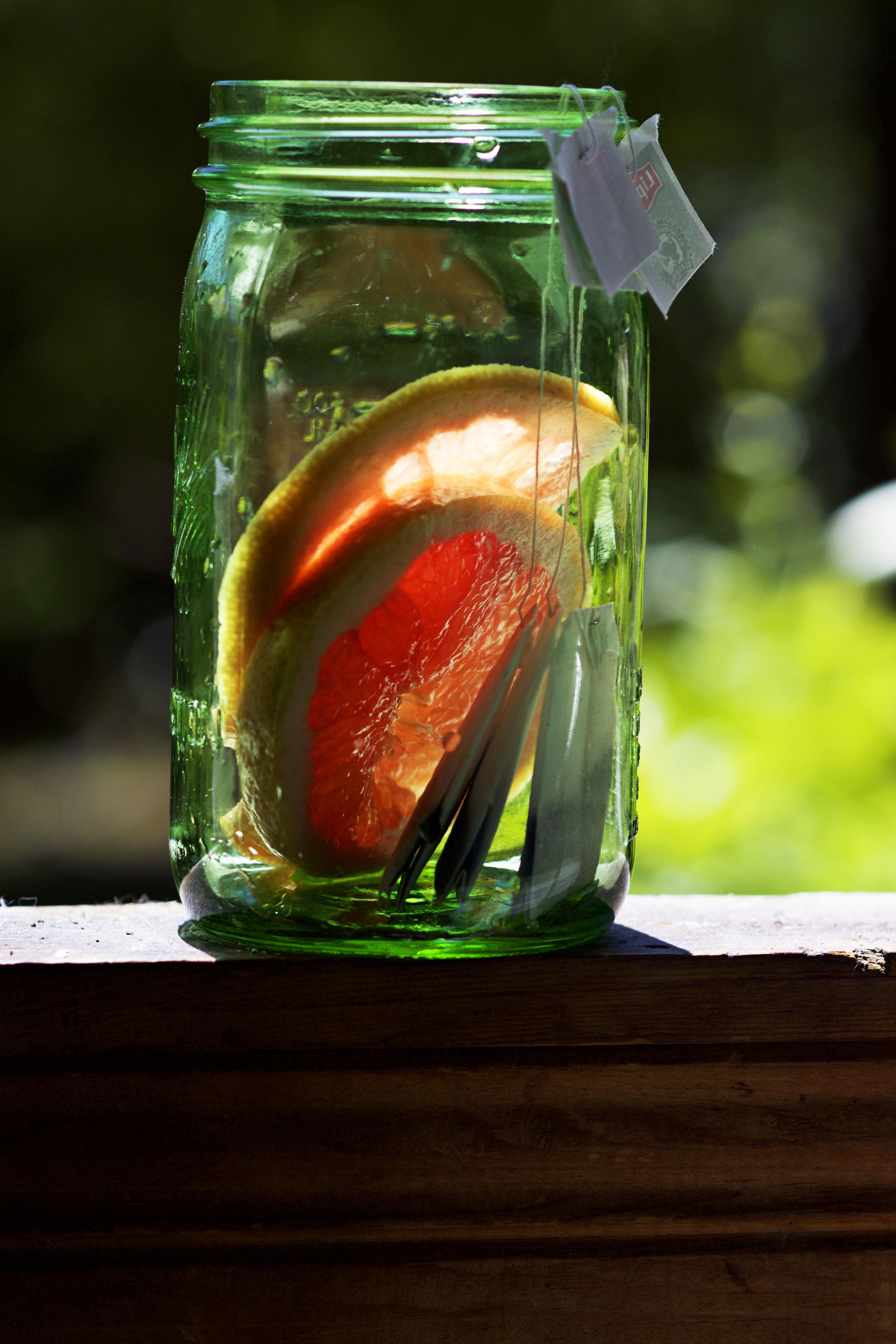 Grapefruit Infused Green Tea