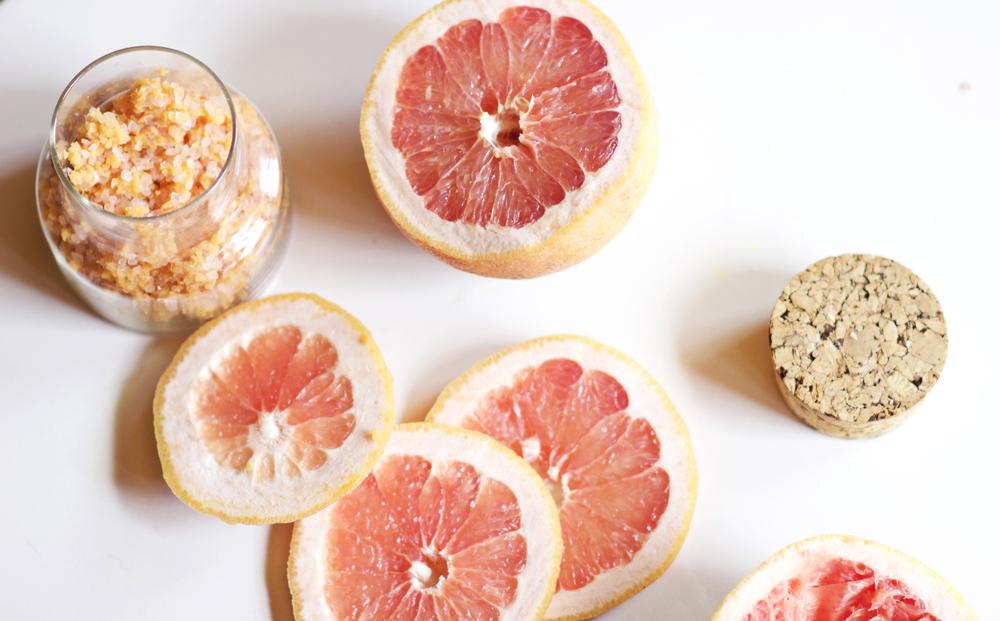 pink grapefruit scrub | most popular in april | the free spirited