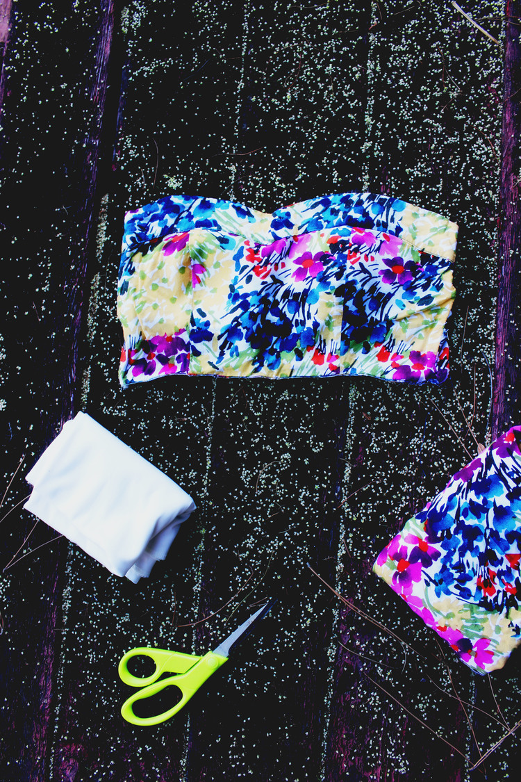 No Sew Bandeau From A Dress