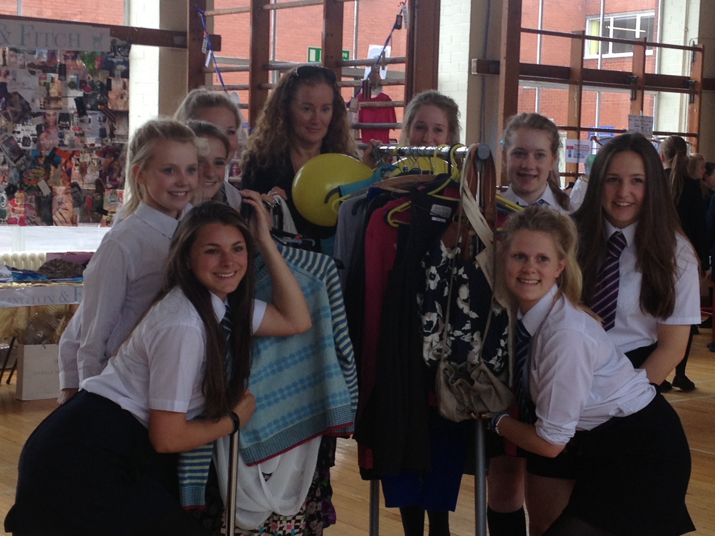 House Captains from Kings School Macclesfield with Manchester Designer Vicky Martin