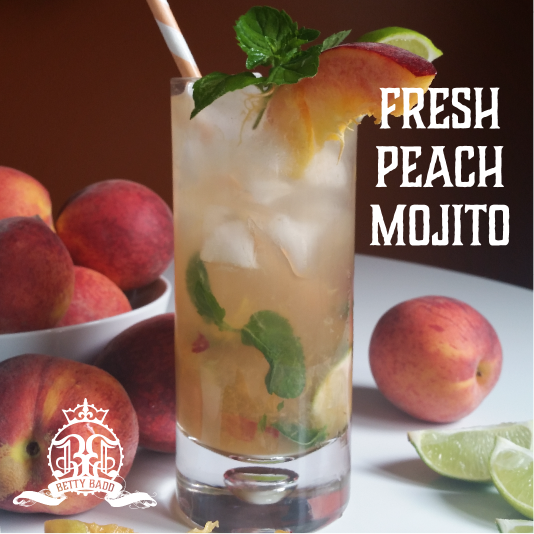 This recipe for a Fresh Peach Mojito is exactly what summer needs!