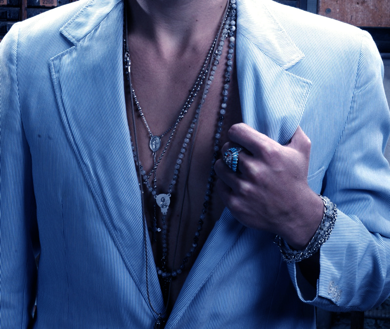 Necklaces against a bare chest - who can resist! Head over to our Mens page to check them out!