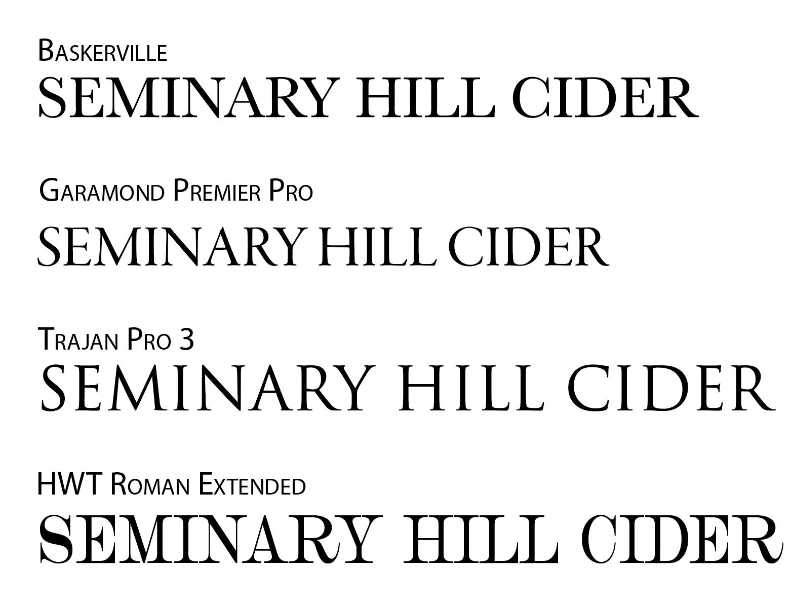 2 Serif Fonts
