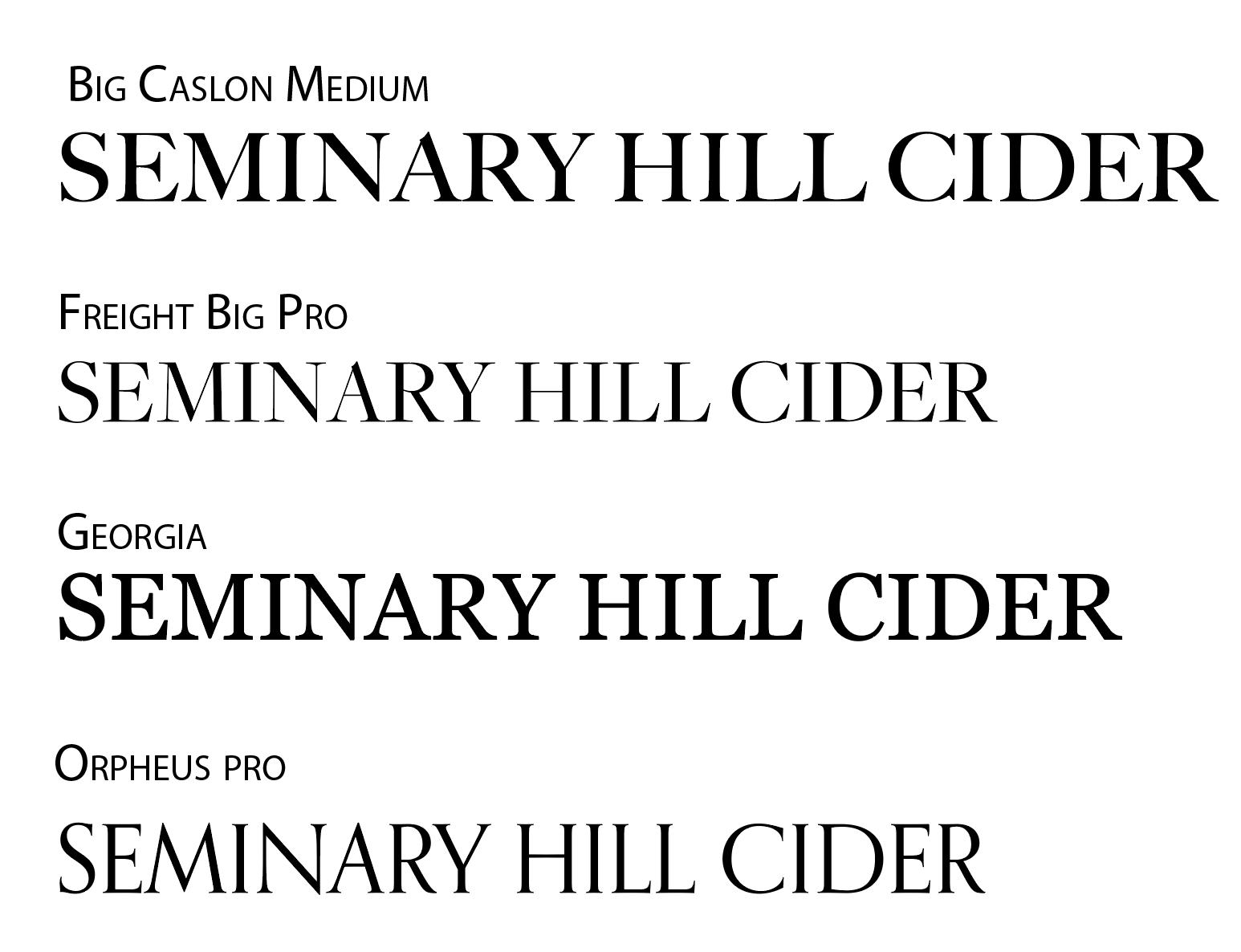 3 Serif Fonts