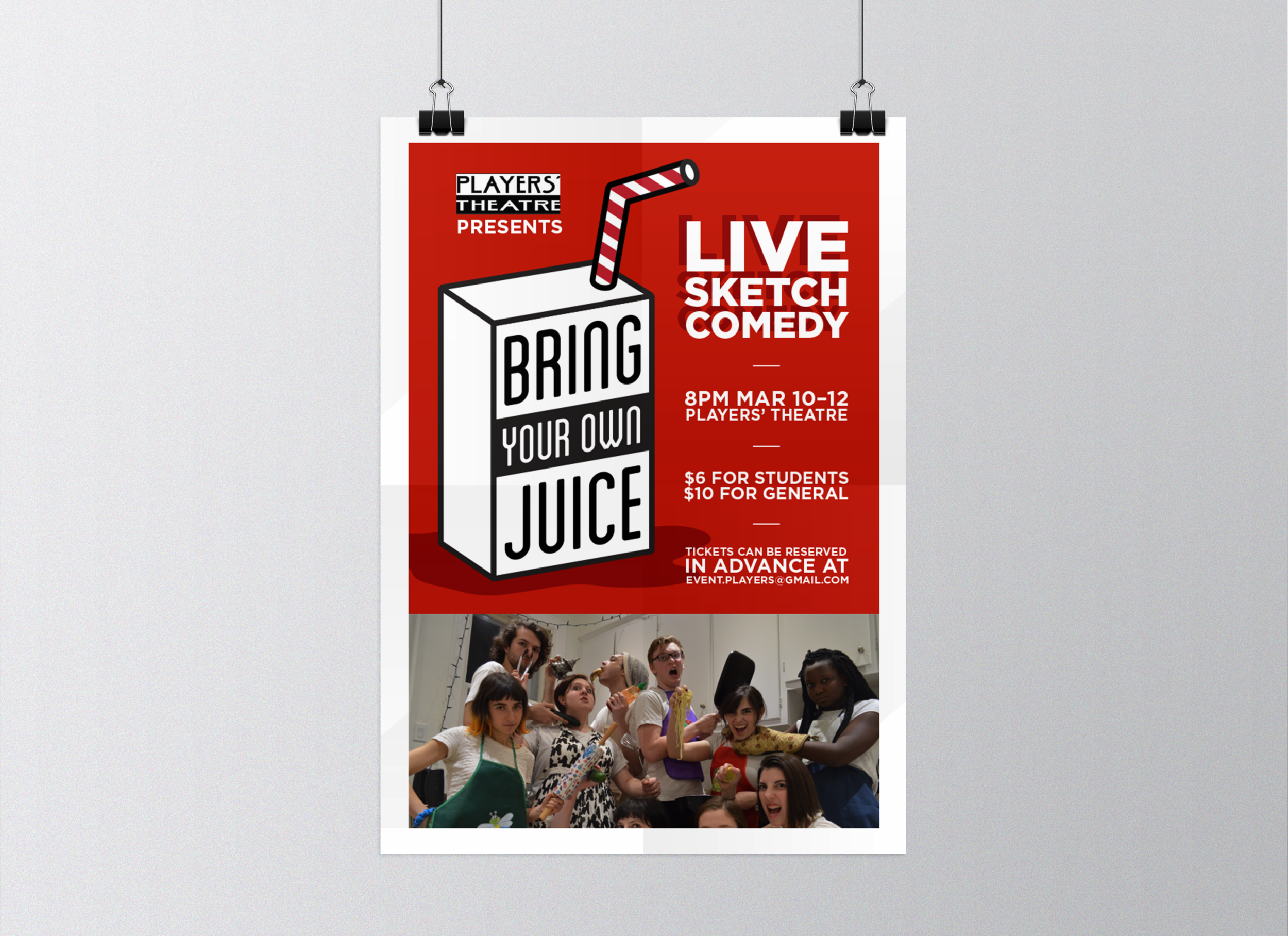 An Annual Sketch Comedy Show - Written, produced, and directed by McGill's one and only sketch comedy troupe in one short month, Bring Your Own Juice is an annually presented spectacle of sharp, irreverent hilarity.The juice is a metaphor.