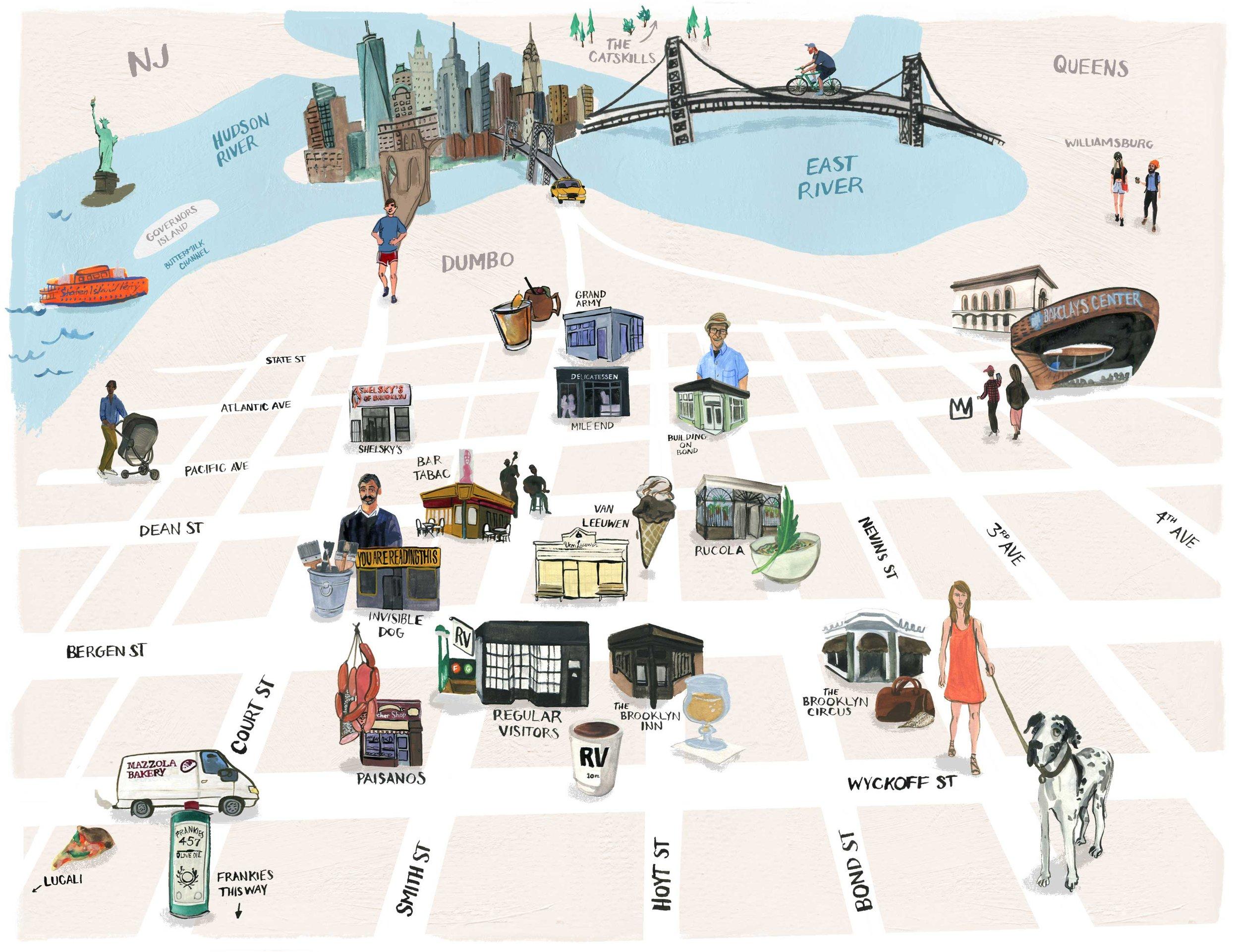 Boerum Hill Map for Regular Visitors