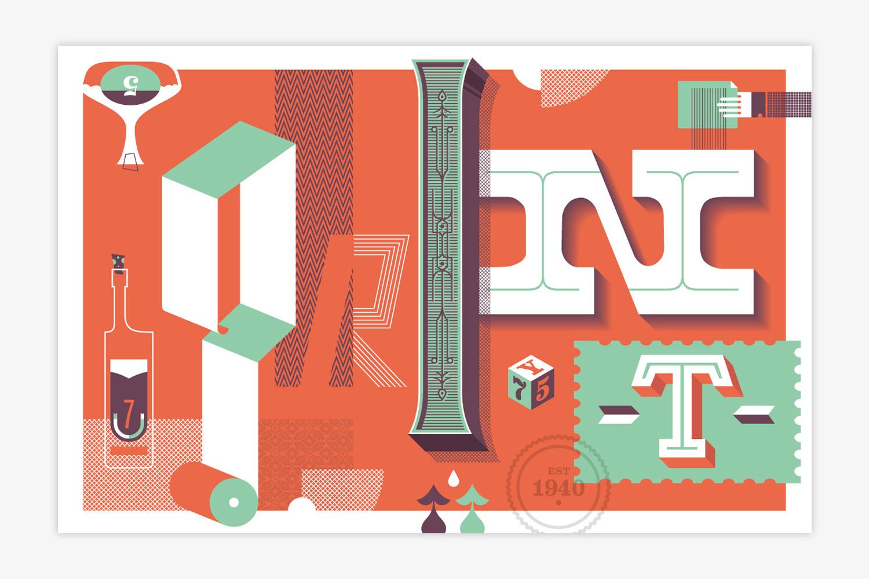 Designed for Print Magazine 75 year anniversary.  CDA
