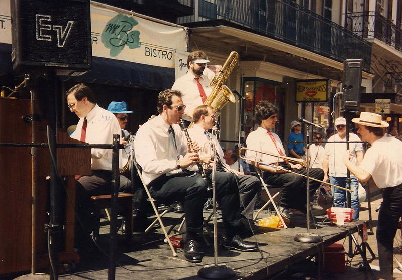 The Legendary George Finola and his band at French Quarter Fest, New Orleans, 1993
