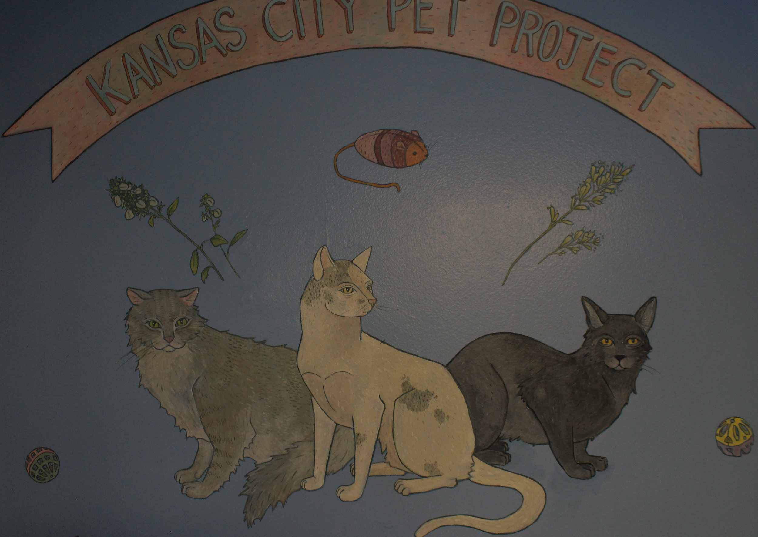 kansas city pet project adoptions mural (detail)  2017