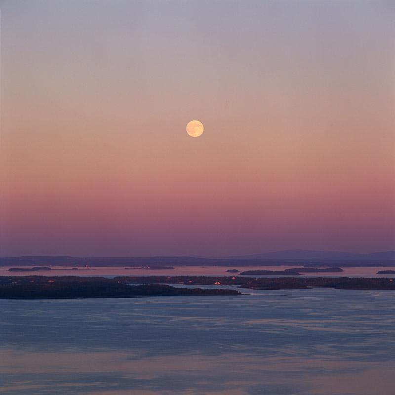 """Moonrise, Penobscot Bay"""