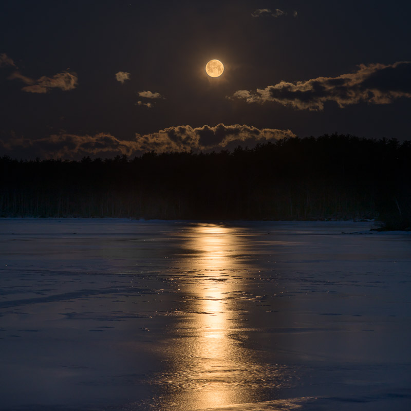 Moon When Eyes Hurt From Bright Snow I