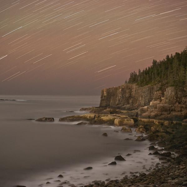 Nightfall, Otter Cliffs, Acadia National Park