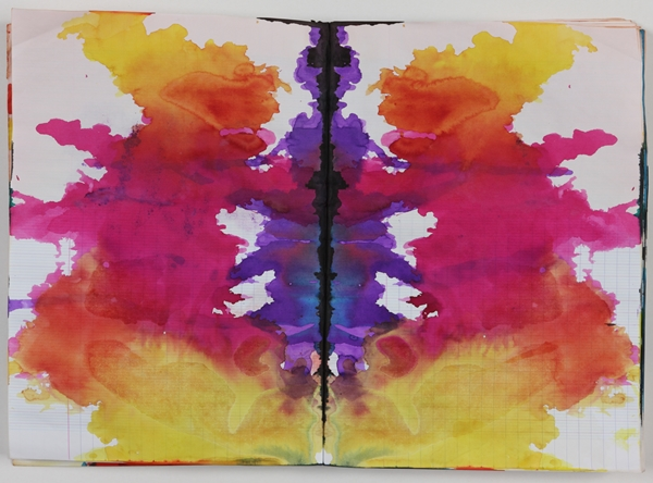 Sigmar Polke ,  Untitled (Rorschach)  ( Ohne Titel (Rorschach) ) (circa 1999). Private Collection. Photo: Alistair Overbruck © 2014 Estate of Sigmar Polke/ Artists Rights Society (ARS), New York / VG Bild-Kunst, Bonn.