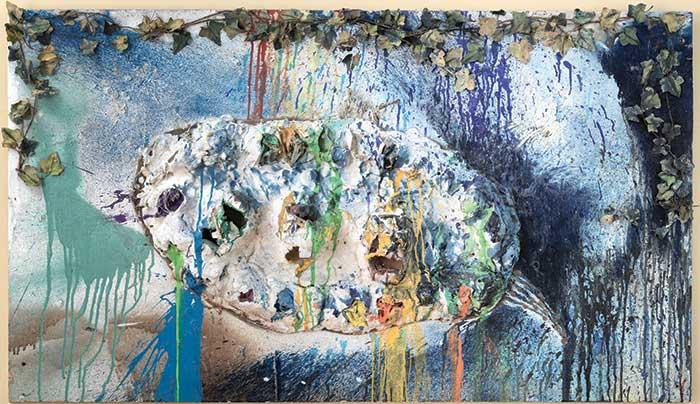 Stepping back: Niki de Saint Phalle,  Fragment de l'Hommage au Facteur Cheval , 1962