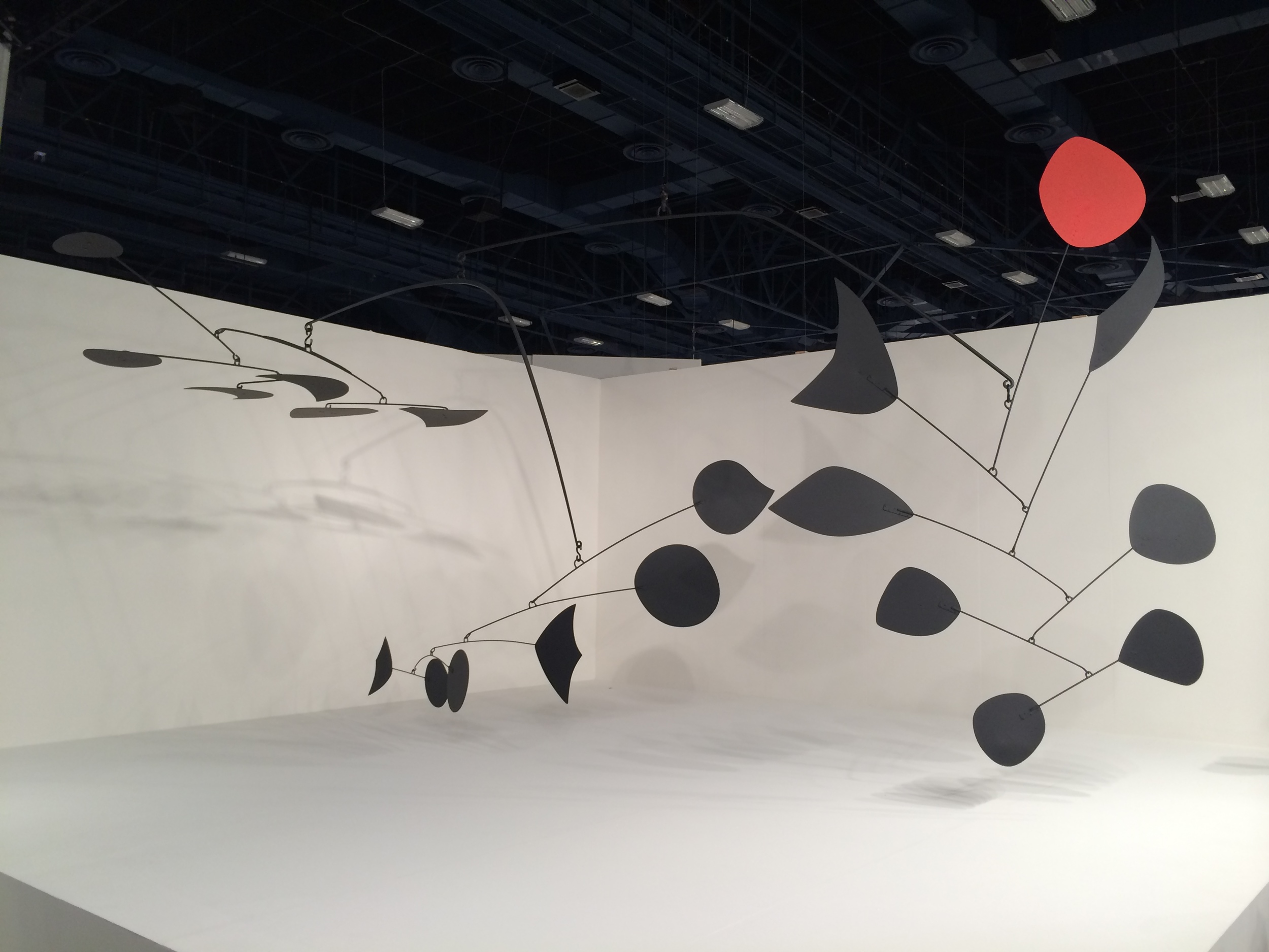 We don't know if this sculpture by Alexander Calder was the most expensive work on view, but it was probably close at $35 million.