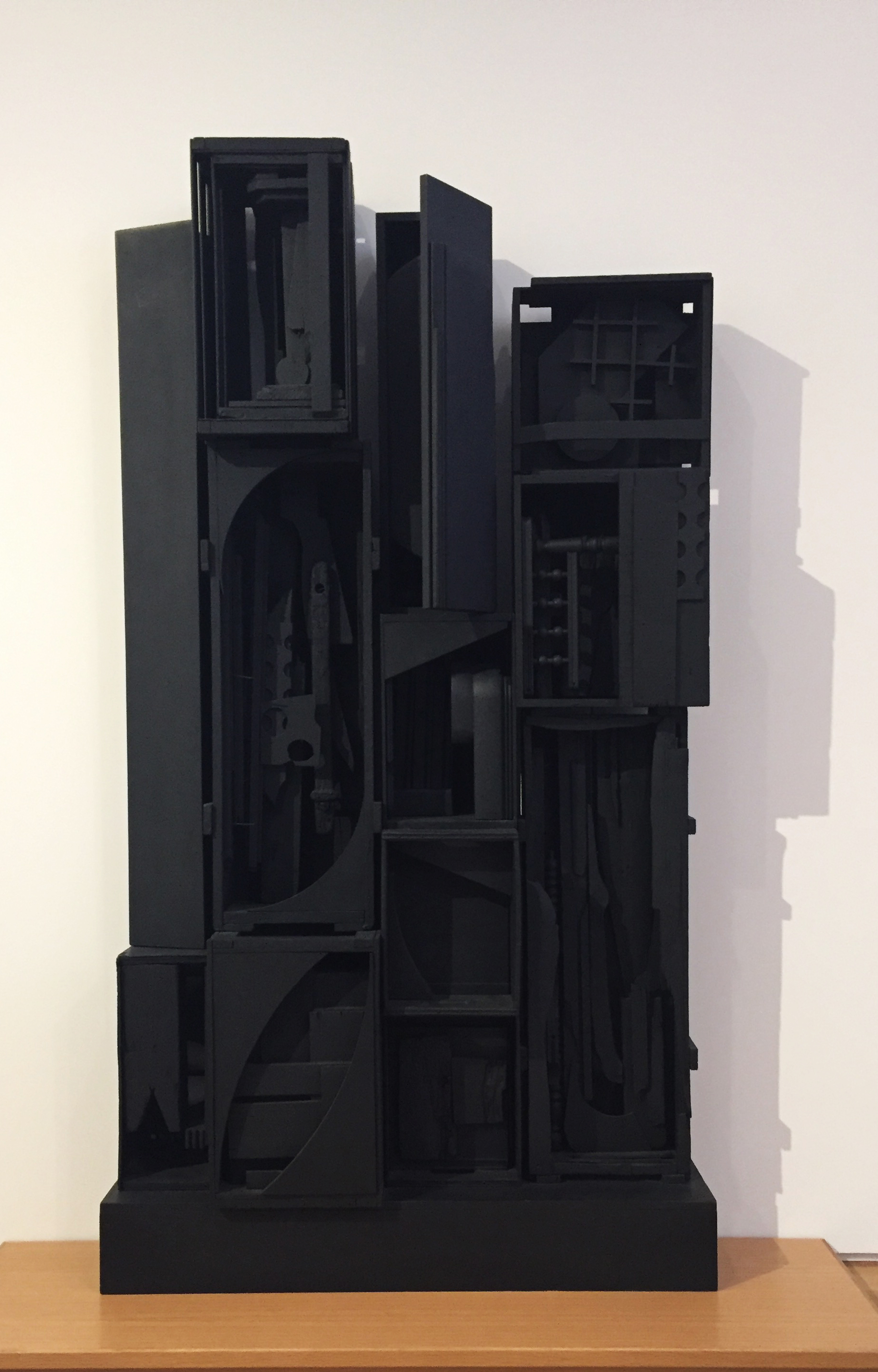 """Whenever I see Louise Nevelson's work, I think, """"black magic."""" Every single magnificent time. Louise Nevelson (American, 1899-1988)  Sky Garden (1959-1964)  enamel on wood."""