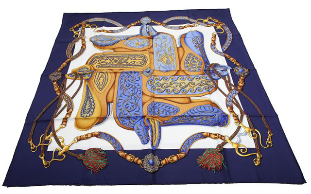 Hermès  Festival des Amazones  silk scarf, designed by Henri d'Origny,  Chiswick Auctions  (October 2016)