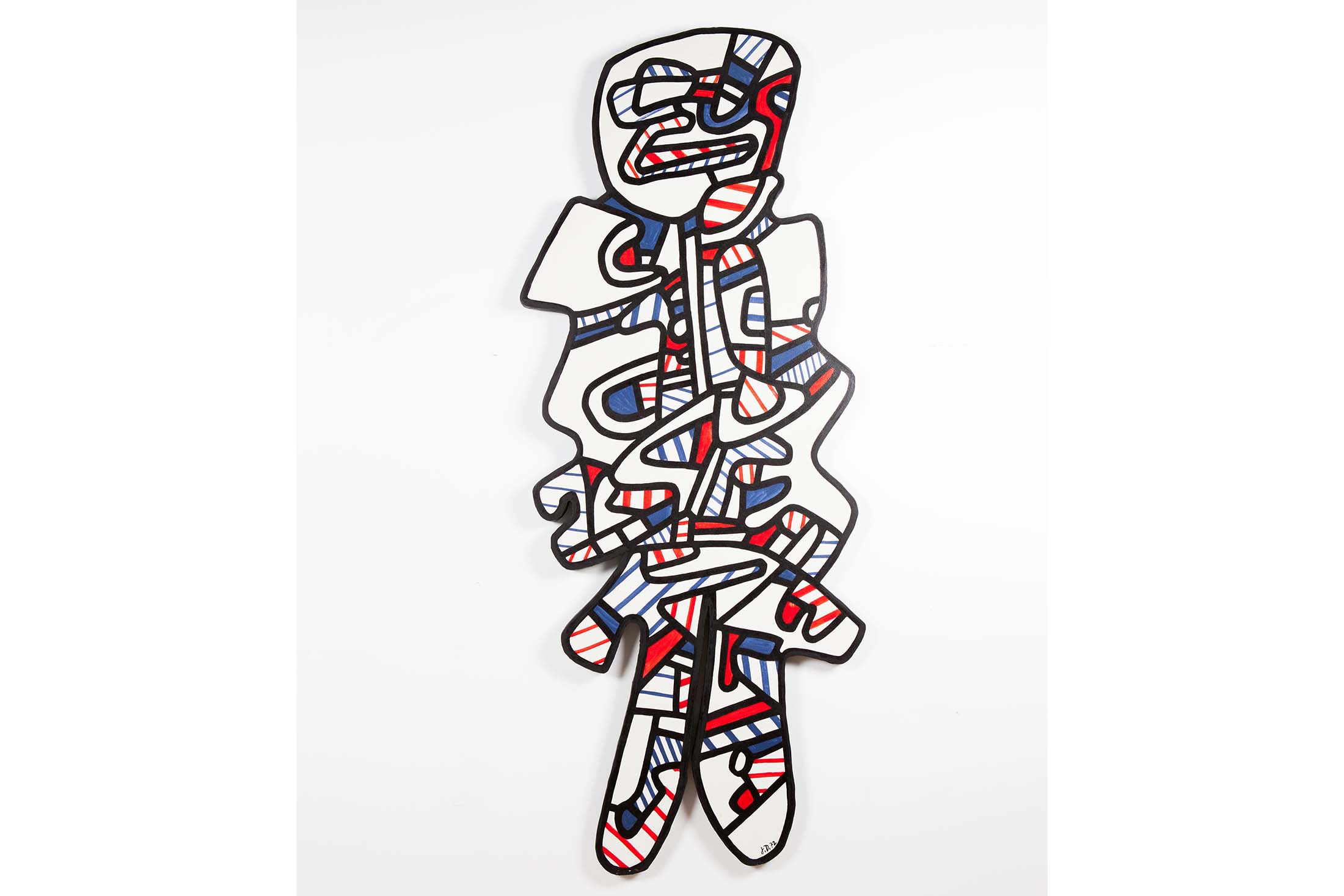 Jean Dubuffet's  Le Gommeux , made in 1972. Source: Phillips